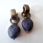 Blue Stone - € 9,95<span>VERKOCHT</span><br>Oorbellen met clips - 5,5 cm