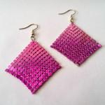 Pink Lady - € 7,95<span>VERKOCHT</span><br>Oorbellen, hangend strass, - 5 cm